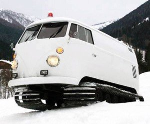 Best Tracked Vehicle for Snow: VW Bus
