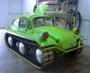 Cool Tracked Vehicles: Personal VW Bug Car on Tracks