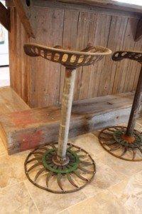 Handmade Tractor Seat Stools