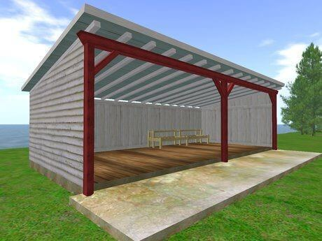 Build your own backyard diy shed struck corp for Open barn plans