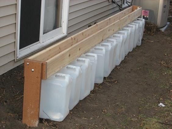 No Gutter Rain Jug Collection System