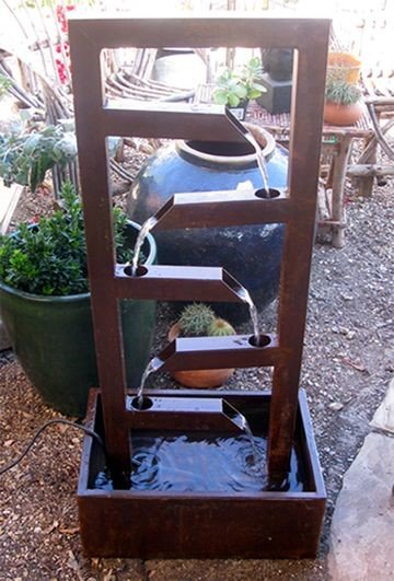 Custom Square Water Fountain for Your Garden or Flower Bed