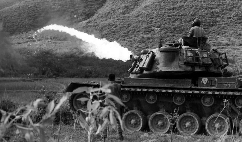 snow vehicles - A Flame Thrower Tank