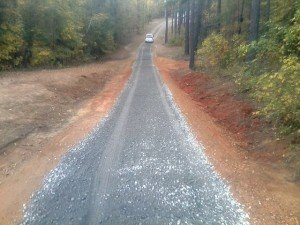 Re-Trench for Drainage - Gravel Roads