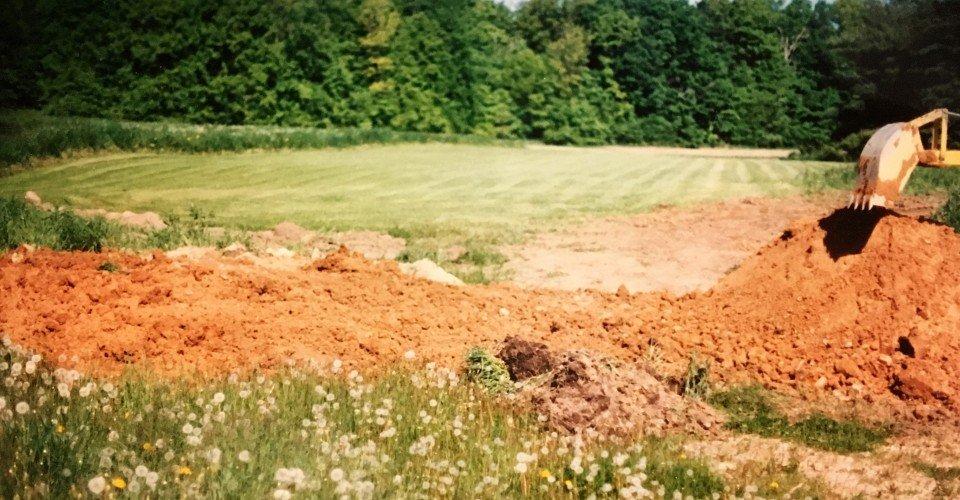 Small Bulldozer to bury the foundation