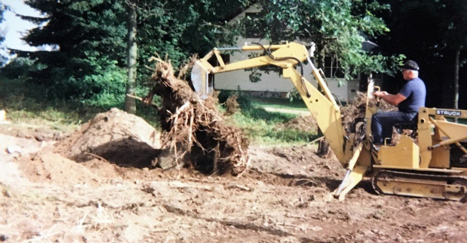 Small Bulldozer stump removal