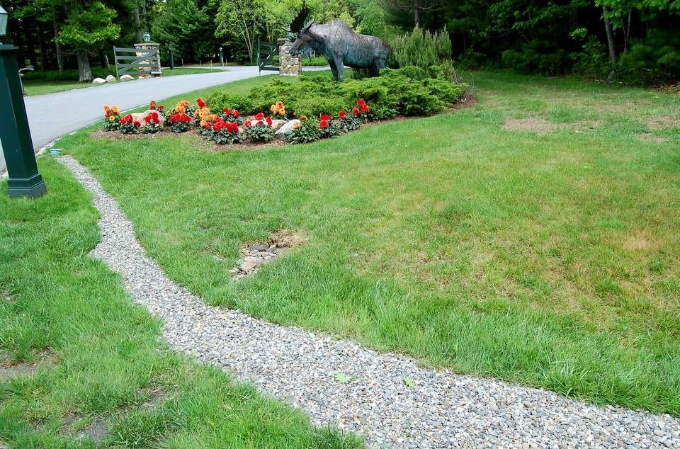 drainage system - Use Landscape Tarp Instead of a Plastic Liner