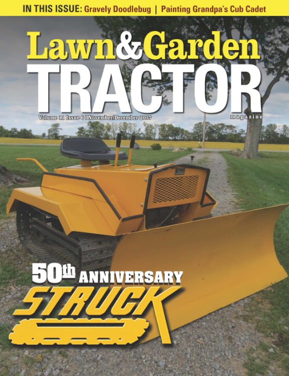 Struck Featured on Cover of Lawn and Garden Tractor Magazine
