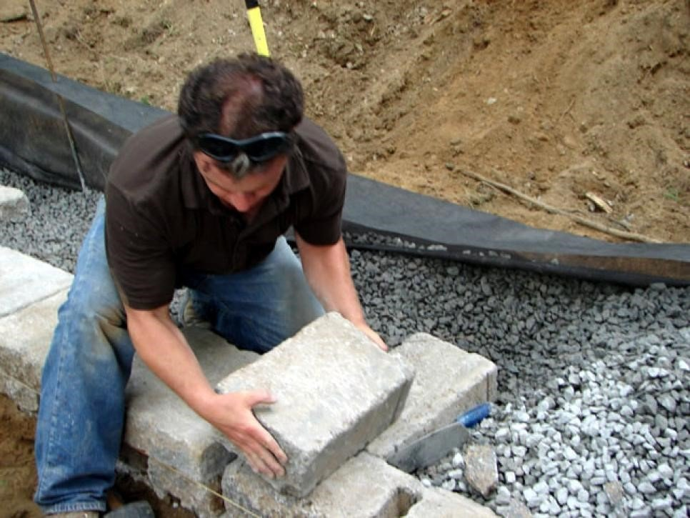 Check Your Drainage - Building a Retaining Wall