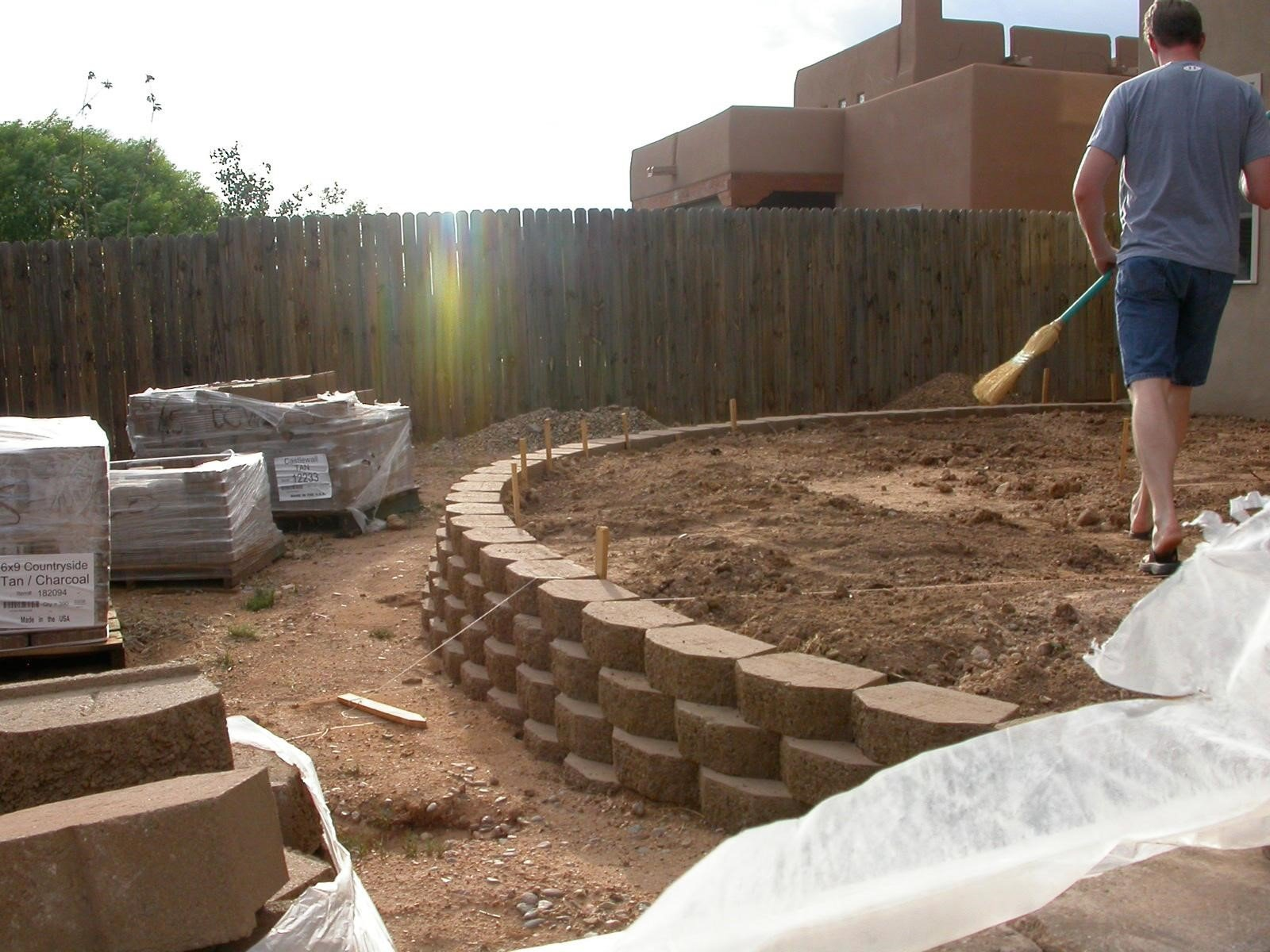 Steer Clear of Straight Walls - Building a Retaining Wall