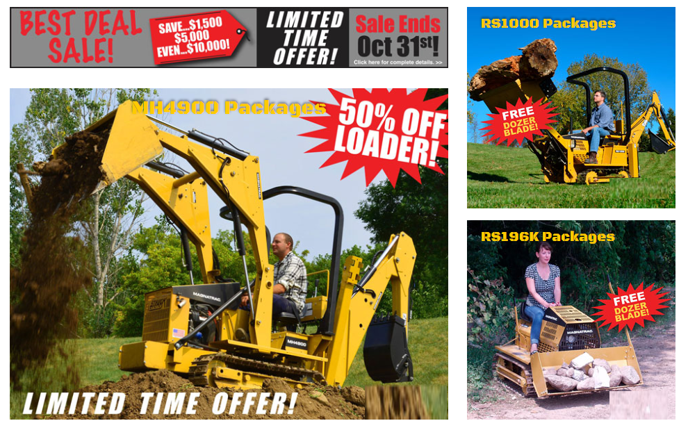 Best Deal Sale Announcement for Compact Crawler Tractors